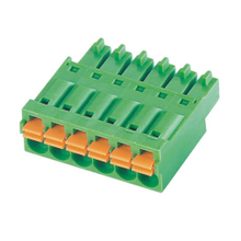Pluggable terminal block Plug in 0.5-1.5mm² Pin spacing 3.50/3.81 mm 6-pole Female connector