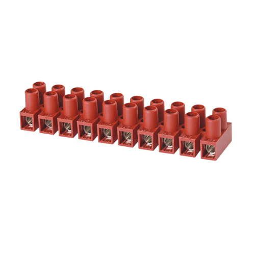 Feed Through terminal blocks Strip type 0.5-4.0mm² Pin spacing 8.0mm 10-pole Fuse connector
