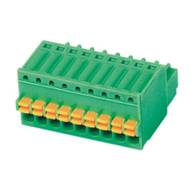 Pluggable terminal block Plug in 0.5mm² Pin spacing 2.50 mm 9-pole Female connector
