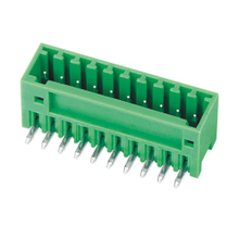 Pluggable terminal block R/A Header Pin spacing 2.50/2.54 mm 10-pole Male connector
