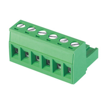 Pluggable terminal block Plug in 2.5mm² Pin spacing 5.08 mm 6-pole Female connector